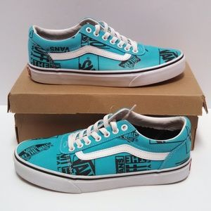 Vans Shoes All Over Print Lace Up Size 8